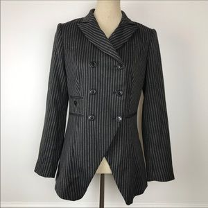 WALTER Double Breasted 3 Button Pinstripe Jacket
